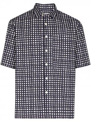 Клетчатая рубашка с короткими рукавами Loreak Mendian. Цвет: синий