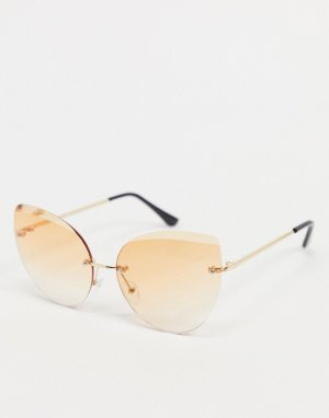 Золотистые солнцезащитные очки -Золотистый AJ Morgan