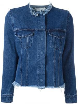 Джинсовая куртка с необработанными краями Marques'almeida. Цвет: синий