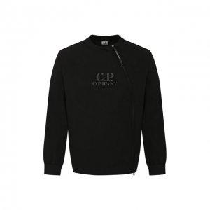 Хлопковый свитшот C.P. Company. Цвет: чёрный