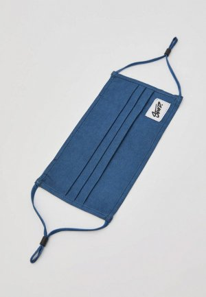 Маска защитная Pull&Bear. Цвет: синий