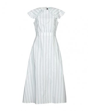 Длинное платье CALVIN KLEIN 205W39NYC. Цвет: светло-зеленый
