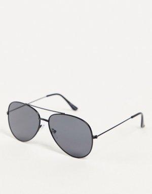 Черные солнцезащитные очки-авиаторы -Черный цвет Only & Sons