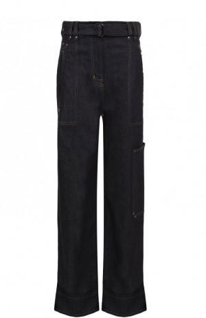 Расклешенные джинсы с контрастной прострочкой и поясом Tom Ford. Цвет: синий