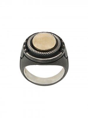 Перстень в двух тонах Nove25. Цвет: золотистый