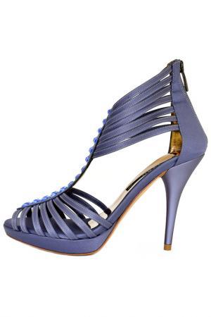 Босоножки Albano. Цвет: серо-голубой