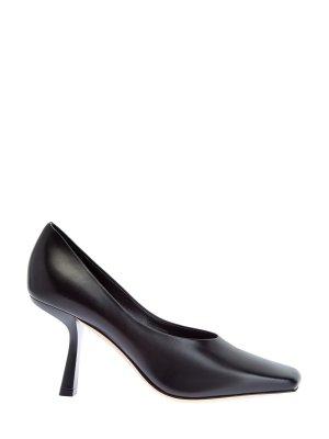 Туфли Marcela из матовой кожи наппа с архитектурным каблуком JIMMY CHOO. Цвет: черный