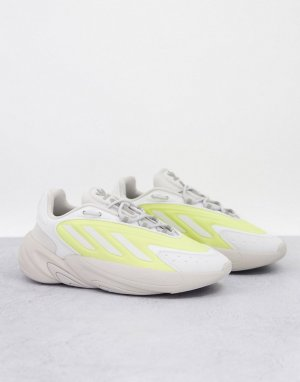 Бежевые кроссовки с желтыми элементами Ozelia-Белый adidas Originals