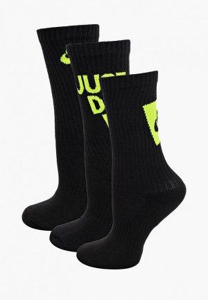 Комплект Nike Y NK EVERYDAY CUSH CREW 3PR -. Цвет: черный