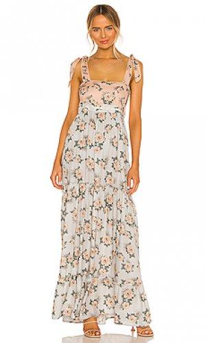 Макси платье helina Agua Bendita. Цвет: нежно-голубой
