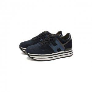 Замшевые кроссовки Hogan. Цвет: синий