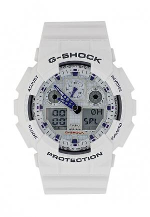 Часы Casio G-SHOCK GA-100A-7A. Цвет: белый