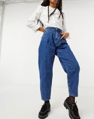 Темно-синие широкие джинсы -Синий Only