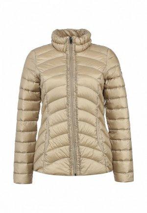 Куртка утепленная Comma CO004EWLR385. Цвет: бежевый