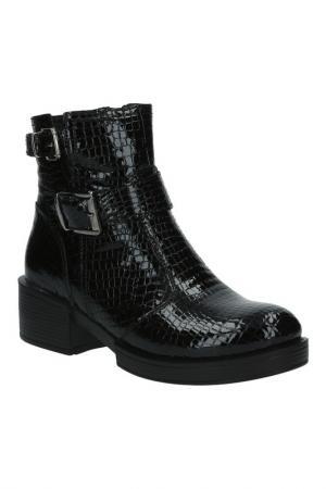Ботинки BENTA. Цвет: рептилия черная