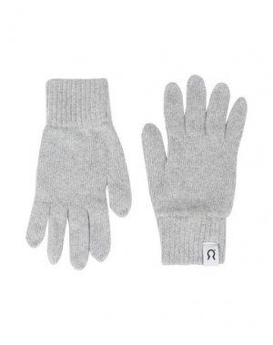 Перчатки RIFÒ. Цвет: светло-серый