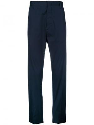 Прямые брюки-чинос Prada. Цвет: синий