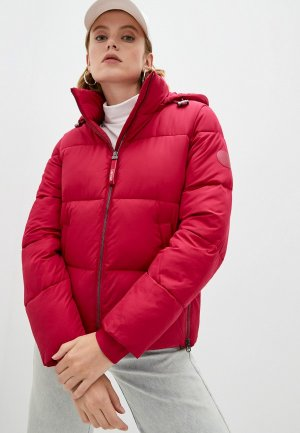 Куртка утепленная Calvin Klein. Цвет: розовый