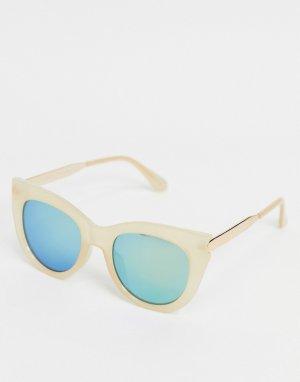 Бежевые солнцезащитные очки кошачий глаз -Бежевый AJ Morgan