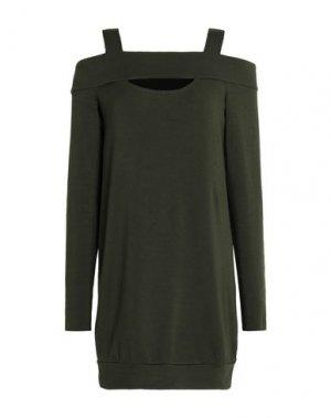 Короткое платье BAILEY 44. Цвет: зеленый-милитари