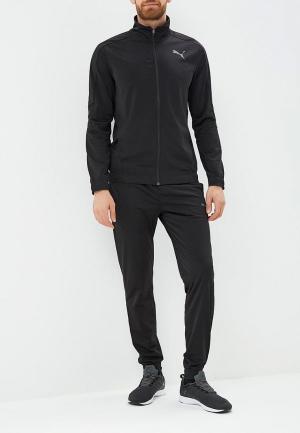 Костюм спортивный PUMA Techstripe Tricot Suit CL. Цвет: черный