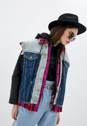 Куртка джинсовая Diesel. Цвет: разноцветный
