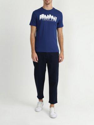 Широкие джинсы J30 Armani Exchange. Цвет: siniy