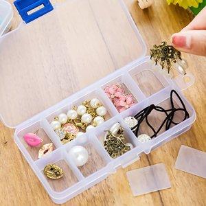 Прозрачная шкатулка для ювелирных изделий SHEIN. Цвет: белый