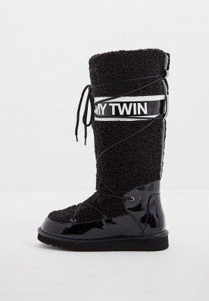 Унты Twinset Milano MY TWIN. Цвет: черный