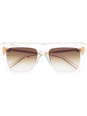 Солнцезащитные очки B-I в квадратной оправе Balmain Eyewear. Цвет: белый