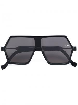 Солнцезащитные очки в геометрической оправе Vava. Цвет: чёрный