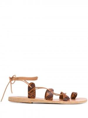 Сандалии Alcyone Ancient Greek Sandals. Цвет: коричневый