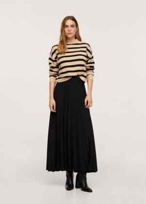 Плиссированная миди-юбка - Plas-a Mango. Цвет: черный