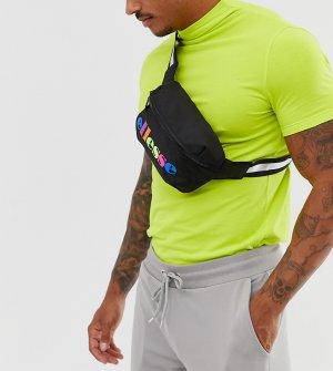 Черная сумка-кошелек на пояс эксклюзивно для ASOS ellesse. Цвет: черный