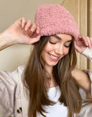 Фактурная шапка-бини в рубчик -Розовый Free People