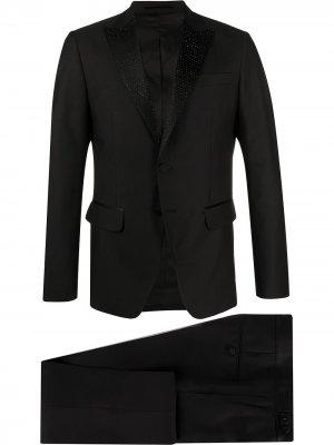 Строгий костюм Dsquared2. Цвет: черный