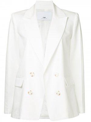 Двубортный пиджак CAMILLA AND MARC. Цвет: белый