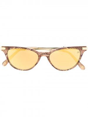 Солнцезащитные очки в оправе кошачий глаз Philipp Plein. Цвет: золотистый
