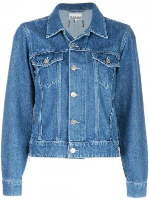Джинсовая куртка GANNI. Цвет: синий