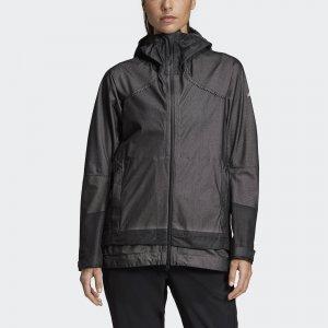 Куртка-дождевик Terrex Primeknit adidas. Цвет: черный