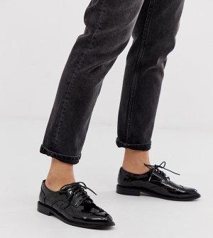 Черные туфли на плоской подошве -Черный цвет ASOS DESIGN