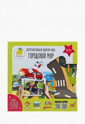Коврик детский ЯиГрушка Пазл, Городской мир, 1х32х32 см (12 деталей). Цвет: разноцветный