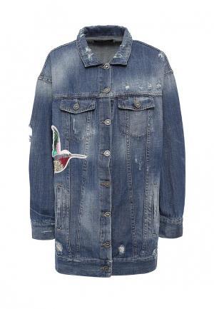 Куртка джинсовая Fornarina. Цвет: синий