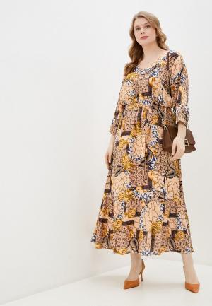 Платье Junarose. Цвет: бежевый