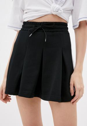 Юбка PUMA Classics T7 Pleated Skirt. Цвет: черный