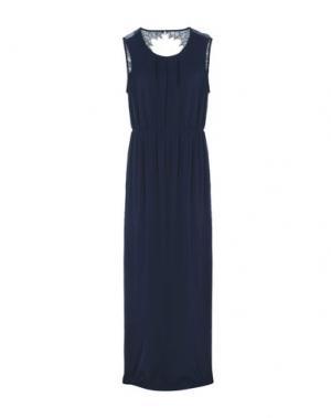 Длинное платье MINIMUM. Цвет: темно-синий