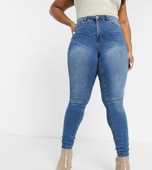 Синие зауженные джинсы -Синий Junarose