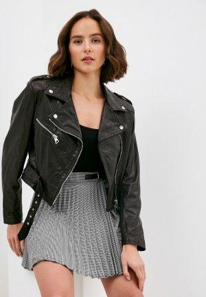 Куртка кожаная Imperial. Цвет: черный