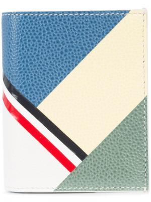 Геометрическая визитница Thom Browne. Цвет: многоцветный