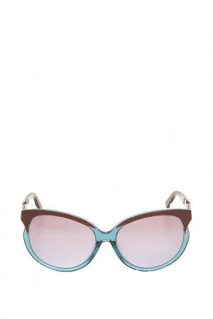 Очки солнцезащитные с линзами Swarovski. Цвет: 89t персиковый, бежевый